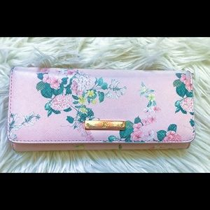 New York & Company Floral Fold Over Wallet